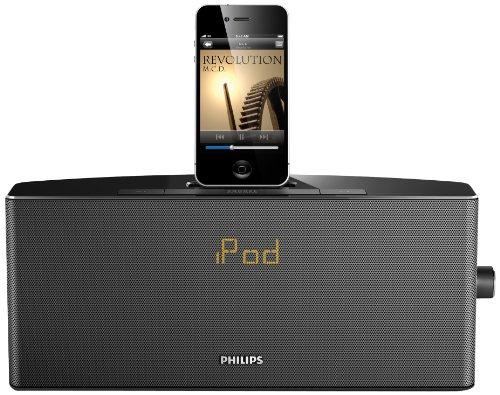 Philips AJ7034D/12 Docking-Radiowecker für Apple iPod/iPhone schwarz