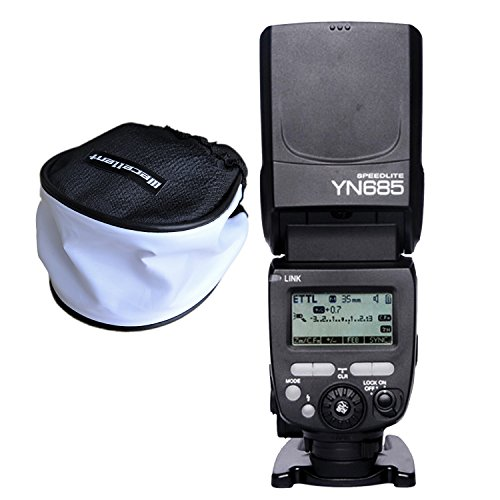 Yongnuo YN685C YN685 E-TTL Systemblitz Aufsteckblitz Blitzgerät mit Wecellent Mini Softbox Diffusor für Canon …