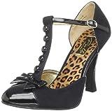 Pin Up Couture Smitt10/bmcsue-bpt Scarpe con Chiusura a T Donna, Nero (Black), 37 EU (4 UK)