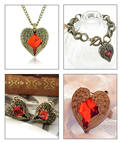 Shining Diva Valentine Special Value For Money Red Heart Jewelry Combo For Women