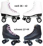 Echtleder Rollschuhe / Discoroller schwarz oder weiß mit Stopper Gr. 36 - 44 in Top Qualität