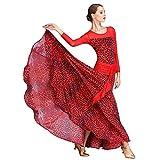 YTS Modern Dance Rock Big Swing Rock Kleid Bewertung Schiedsrichter Kleidung (Farbe : Red, größe : XXL)