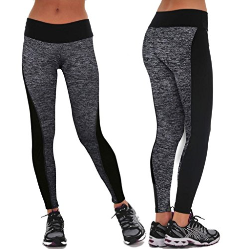 Kanpola Leggings Sport Yoga Hosen Damen Workout Fitness (Schnee Korsett Weiße)