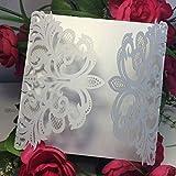 Anself 20pcs romantico matrimonio invitazione busta delicato inciso schema
