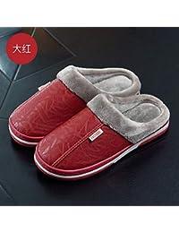 c1f20e10243cd YMFIE Zapatillas de algodón Impermeables de otoño e Invierno. Par de casa.  Calzado en