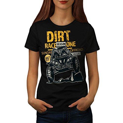 Schmutz Rennen Auto Mode Damen M T-shirt | (Frauen Rennen Auto Kostüm Für)