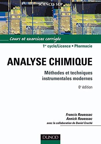 Analyse chimique - 6e d. : Mthodes et techniques instrumentales modernes (Chimie)