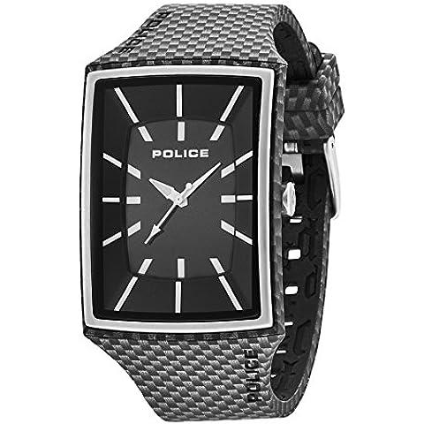 Police 13077MPBS/02A - Reloj de pulsera hombre, silicona, color negro