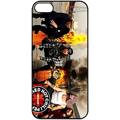 Custodia per Red Hot Chili Peppers, iPhone 5s - Musica Band Rock Cover / Case, iPhone 5s Lusso Luxury Cover - Uomo Di Ferro Rigida Custodia Cover & iPhone 5 5s SE