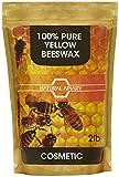 Natural Apiary® 100% pura cera d' api pellet – pastiglie di uso generale, bricolage, realizzare candele, lozioni, balsami per labbra, Furniture Polish., Cera d'api cosmetica, 2lb