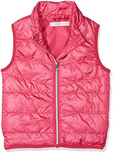 NAME IT Baby-Mädchen Weste Nmfmylan Vest, Rosa (Bright Rose Bright Rose), 104