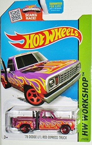 Hot Wheels, 2015 HW Workshop, '78 Dodge Lil Red Express Truck [Purple] #215/250 by Hot Wheels
