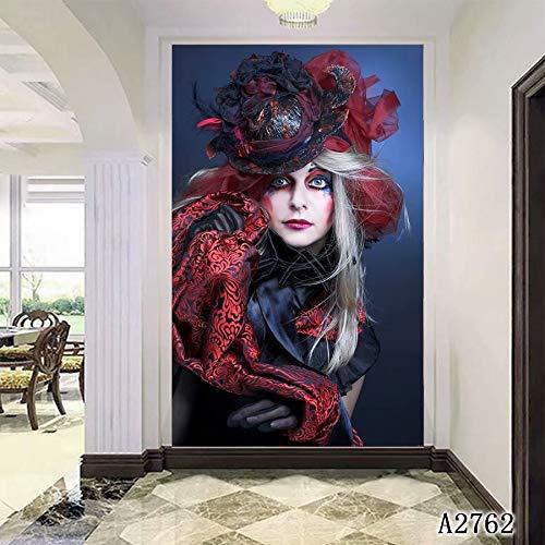 XIANRENGE Nordic Print Poster Pintura Abstracta Terror Mujer Moderno Arte De La Lona Pictures For Living Room Decoración para El Hogar 80×120Cm