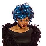 Blaue Karneval Damen Perücke Sexy Shaze blau Damenperücke Karnevalsperücke Faschingsperücke