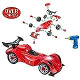 Der erste 4WD RC Bausatz für kleine Mechaniker , Kinder Montage Spielzeug auto mit realistischem Klang und Lichter - Super Spaß beim zusammenbauen und schrauben