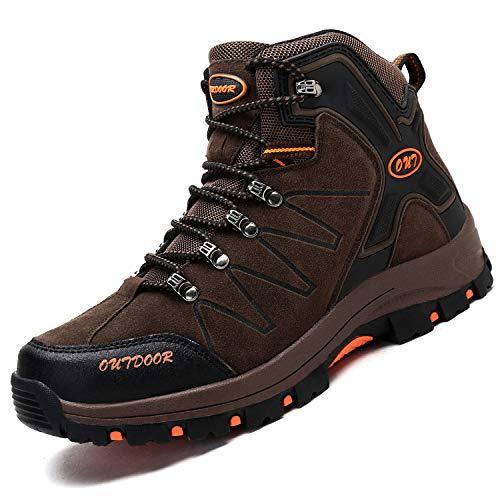 Ikeyo Zapatos de Senderismo para Hombre Impermeables Botas de montaña Zapatos de High Cut Trekking...