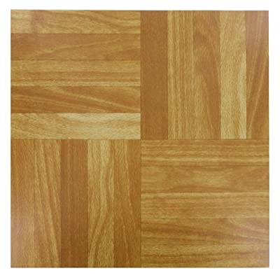 "4x (WOOD) Self Adhesive Vinyl Peel And Stick Tiles Flooring Kitchen Bathroom 12"" x 12"" Shopmonk"