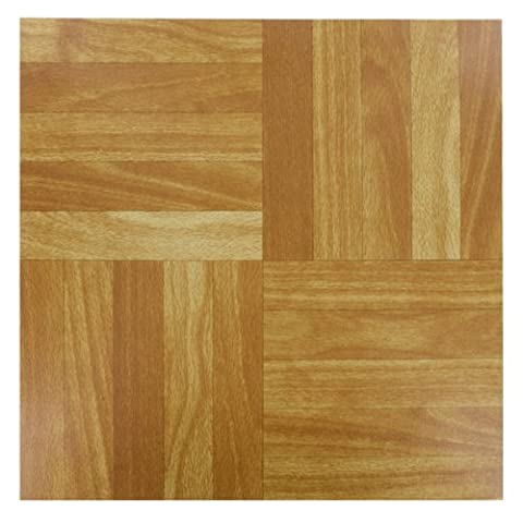 4x (WOOD) Self Adhesive Vinyl Peel And Stick Tiles Flooring Kitchen Bathroom 12
