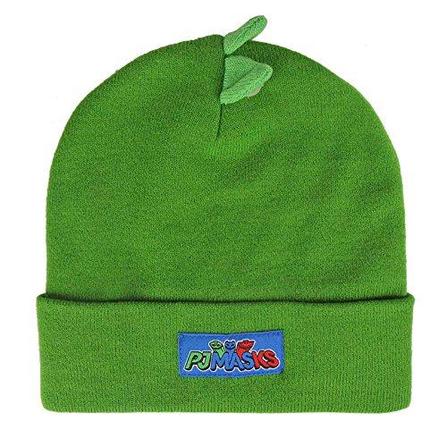 PJ-Masks-Super-Pigiamini-2200-2529-Cappello-Invernale-3D-Acrilico-Bambino-Multicolore-Geco
