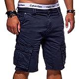 MT Styles Herren Cargo-Shorts Bermuda Kurze Hose Chino X-6720 [Dunkelblau, W30]