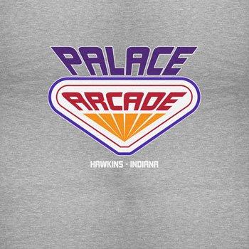 NERDO Hawkins Palace Arcade - Damen T-Shirt Grau Meliert
