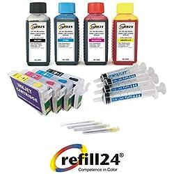 Kit de recharge pour Cartouches d'encre Epson Série 29 / 29 X L auto-reseteables pour imprimantes Expression Home + 400 ML d'encre de Sublimation