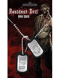 Resident Evil Dog Tag Stars mit Kette, silberfarben aus Metall