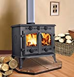 "Lincsfire 12KW Sudbrooke JA006 Type A Cast Iron Log Burner WoodBurner MultiFuel Wood Burning Stove + One Free 5"" Flue Pipe"