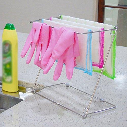 304 Edelstahl-Küchentuch-Rack, waschen Tuch Trockengestell, trockene schimmelige Abfluss-Rack, Handtuch Tuch Lagerung Rack (Trockene Tücher Rack)