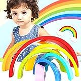 mAjglgE Holzbausteine, Regenbogen-Form, für Kinder