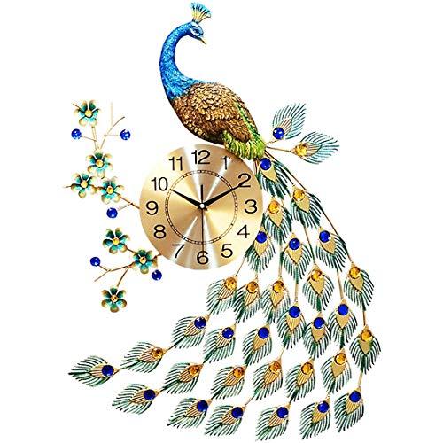 LANGSHI Pfau wanduhr kristall wanduhr Wohnzimmer Uhr kreative persönlichkeit Kunst Dekoration wanduhr Dekoration