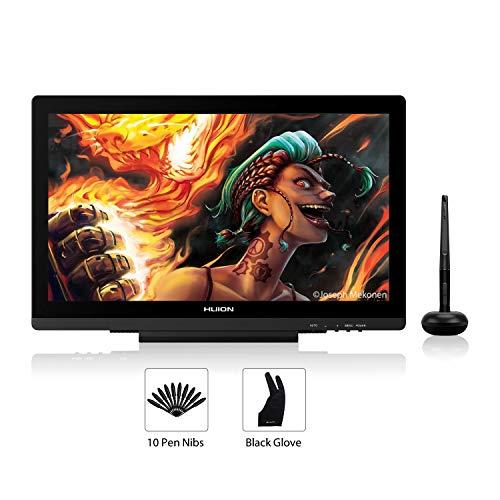 Tableta Gráfica HUION KAMVAS GT-191V2 con lápiz sin Pilas Sensible a la presión, Pantalla gráfica HD de Dibujo de 19,5 Pulgadas y Cristal Esmerilado antireflejos