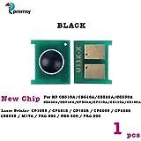 Proffisy New Chip For HP CE310A CB540A CE320A CC530A CE260A CE740A CF350A CF210A CE410A CE400A Toner Cartridge Compatible For HP CP1025 CP1215 CP1525 CP2025 CP4525 CP5225 M176 PRO 200 PRO 300 PRO 500 (Black)