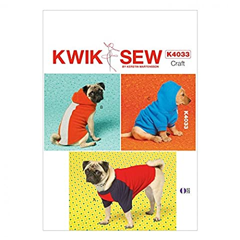 Kwik Sew Pets Easy Sewing Pattern 4033 Dog Coats