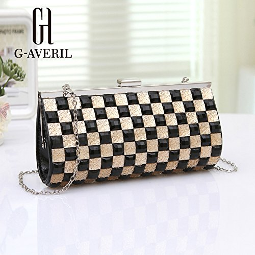 G-AVERIL, Borsa a mano uomo GOlden black GOlden black