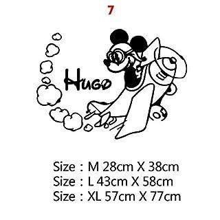 CHUJIAN Custom Name Mickey Minnie Mouse-Vinylwand-Aufkleber-Dekor for Kinderzimmer Kinderzimmer Dekoration Russischen Wandtattoo Aufkleber (Farbe : 7, Größe : Size L)