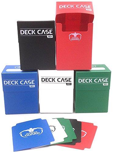 5x Ultimate Guard Deck Case - Verschiedene Farben - Für Sammelkarten - Magic (Box Deck Weiß Card)