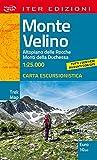 Monte Velino. Altopiano delle Rocche. Monti della Duchessa. Carta escursionistica 1:25.000