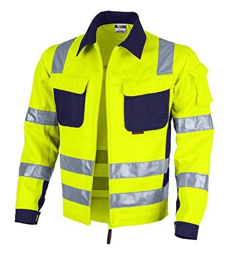 Qualitex Warnschutz-Jacke PRO MG 245 - gelb/marine - Größe: XL -