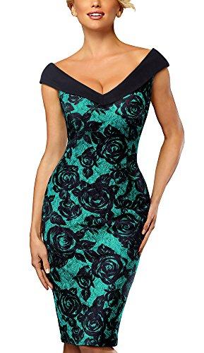 HOMEYEE Women's Elegant V Neck S...