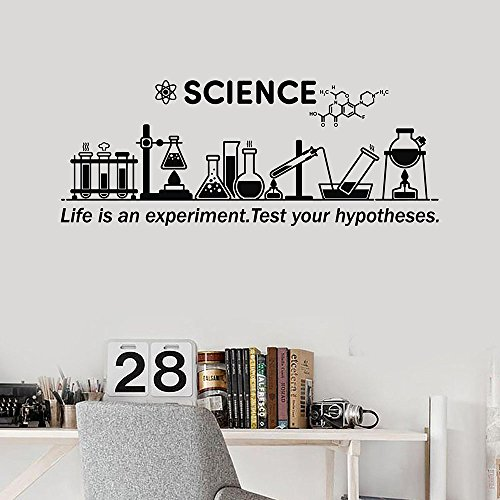 wandaufkleber küche Wall Stickers Art Decor Vinyl Peel and Stick Mural Removable Decals Science Inspire Chemical life is an experient test your hypotheses for Lab School Classroom