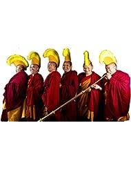 Auténtico monje tibetano / Lama guelug sombrero comprado en el templo Boudanath