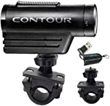 """ChargerCity Exclusive OEM 1/4"""" 20 Tripod Sports Bike Bicycle Motorcycle ATV Mount for Contour Contour HD Roam Roam2 camera Action Camcorder (Fits all handle bar .75"""" to 1.3""""). Also compatible with all Sony HDR AS10 AS15 Veho Muvi Pro Micro Kodak PLaysport ZX3 ZX5 Flip Mino Ultra HD DV units. (Free ChargerCity MicroSD Memory Card Reader with Purchase)"""