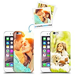 Idea Regalo - Anukku Custodia Cover Air Gel Ultra Sottile Personalizzata con la Tua Foto, Immagine o Scritta per Apple iPhone 6-6s Stampa di qualità Fotografica con Mimaki