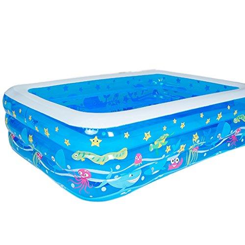 HzhiH-Badaccessoires Aufblasbare Schwimmen PVC Kunststoff Verdickung Große Kinder Pool Baby Adult Haushalt Badezimmer Blau Elektrische Pumpe (größe : 305cm*180cm*60cm)