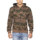 #9: Clifton Mens Army Sweat Shirt with Hood-Walnut