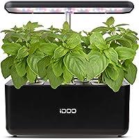 iDoo Sistema de Cultivo hidropónico,Kit de Inicio de jardín de Hierbas para Interiores con luz de Crecimiento LED,Maceta de jardín Inteligente para Cocina casera,Altura Ajustable(7 vainas)