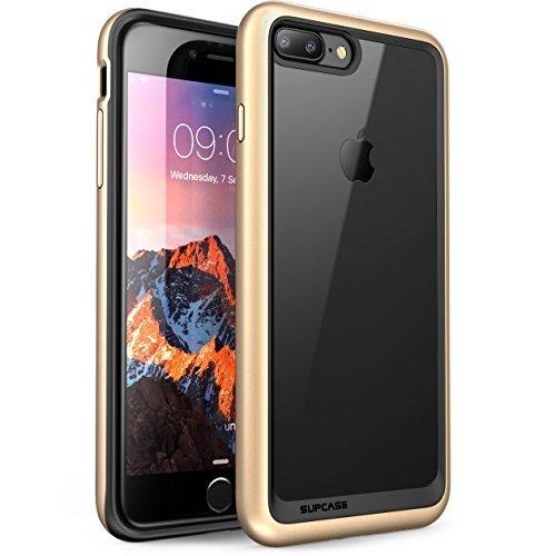iPhone 8 Plus Hülle, SUPCASE [Unicorn Beetle Style] Schutzhülle Premium Case Cover Hybrid Transparent Handyhülle (Kompatibel mit Apple iPhone 7 Plus / iPhone 8 Plus) (Gold)