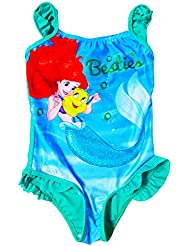 Childs Official Disney Little Mermaid Swimsuit Beach Holiday Swimming Costume