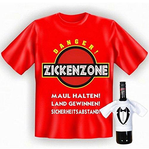 super Auftritt mit collem T-shirt-Set: Farbe: rot + ZICKENZONE.............................+ Rot